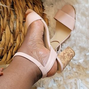 A/ anthropologie pink sandals